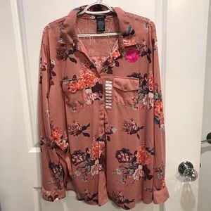 Justify Floral Button Up